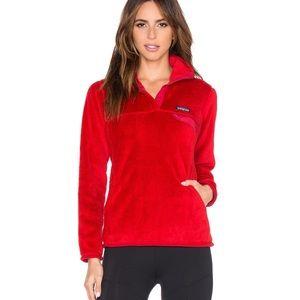 🔥EUC Patagonia Fleece T Snap Red Magenta Sweater
